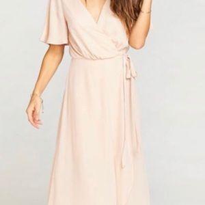 Show Me your Mumu Sophia Wrap Dress, Blush